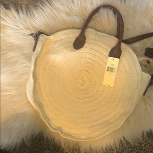 NWT Collection18 Woven Leather Satchel